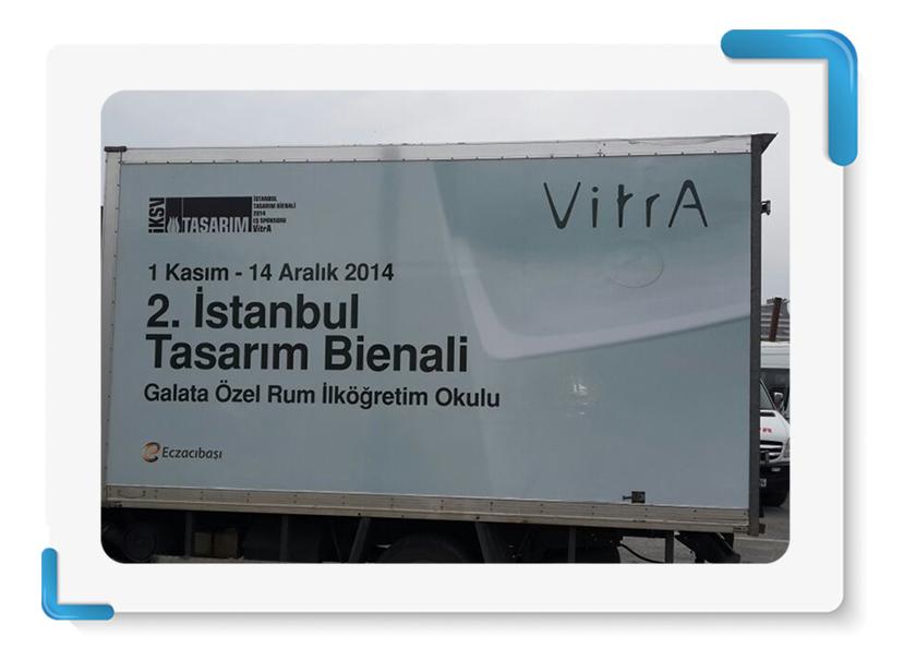 Vitra İstanbul Bianeli Araç Giydirme