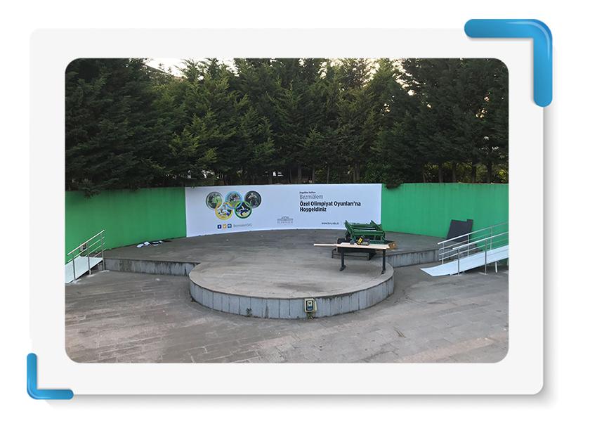 Özel Olimpiyat Oyunları Back Wall İmalatı