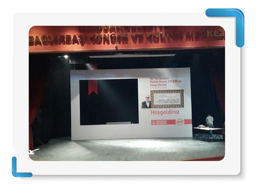 Üsküdar Belediyesi 50.Yılı Anısına Hattat Hasan Çelebi Sahne Backdrop