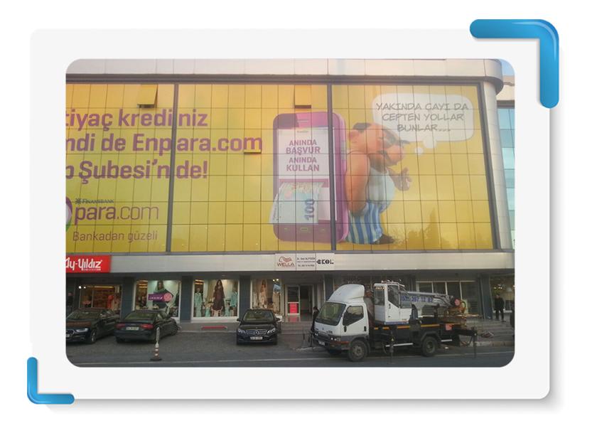 Enpara.com One Way Vision Cephe Giydirme