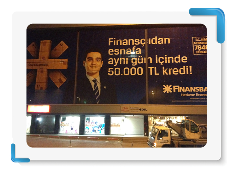 Finansbank One Way Vision Cephe Giydirme