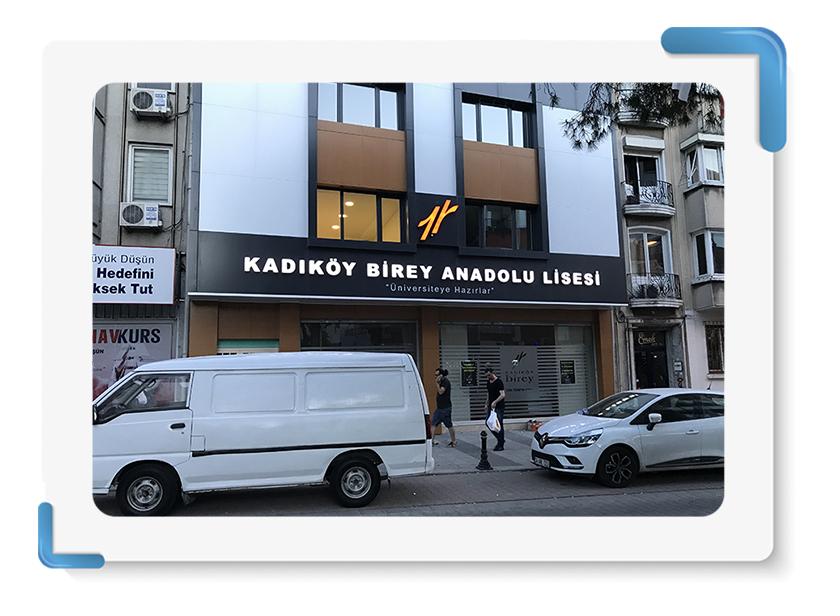 Kadıköy Birey Anadolu Lisesi Tabela İmalatı
