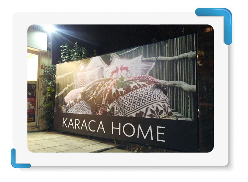 Karaca Home Işıkısız Vinil Germe Tabela İmalatı