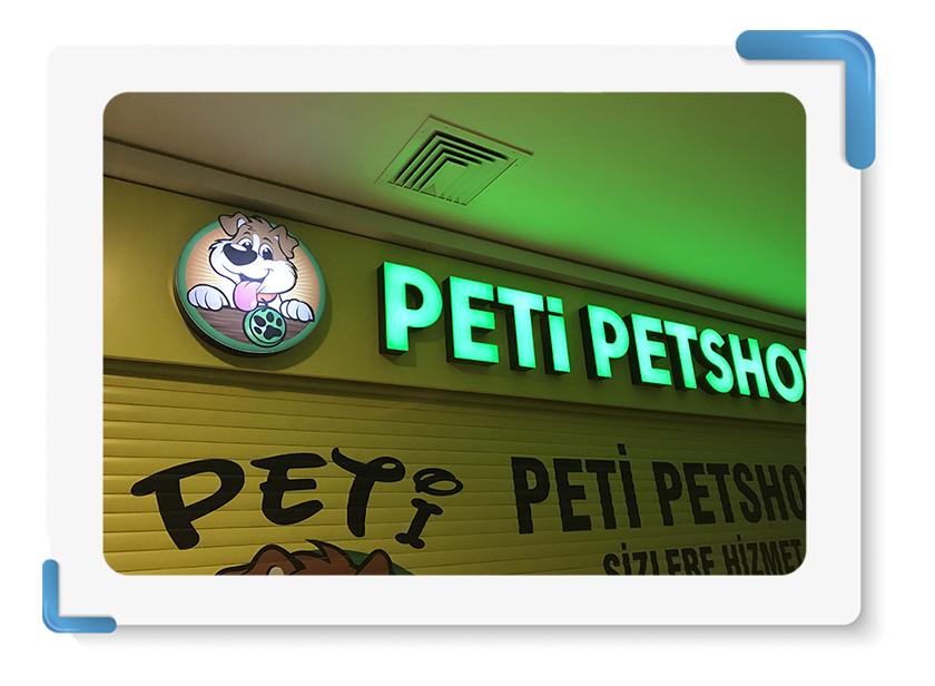 Peti Petshop Tabela İmalatı