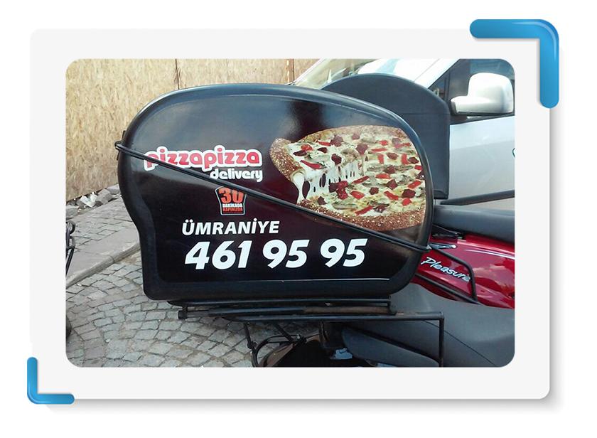 Pizza Pizza Motor Kasası Giydirme