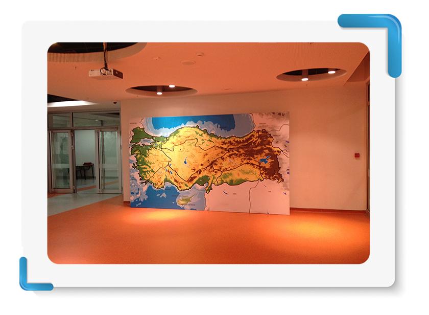 TED Rönesan Küçükyalı Türkiye Haritası Backdrop