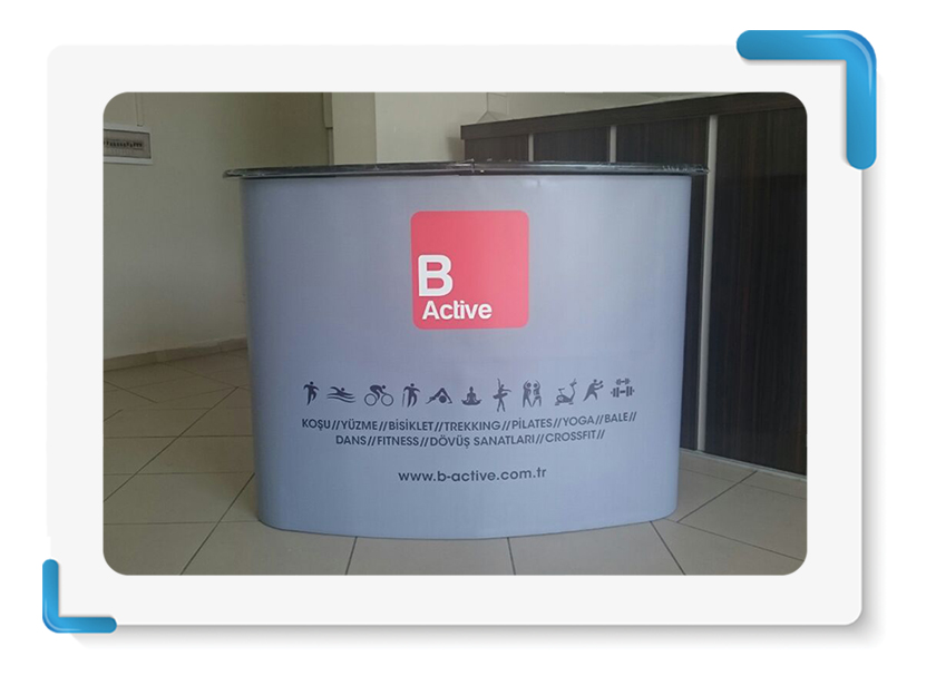 B Active Roll Up Örümcek Stand Display