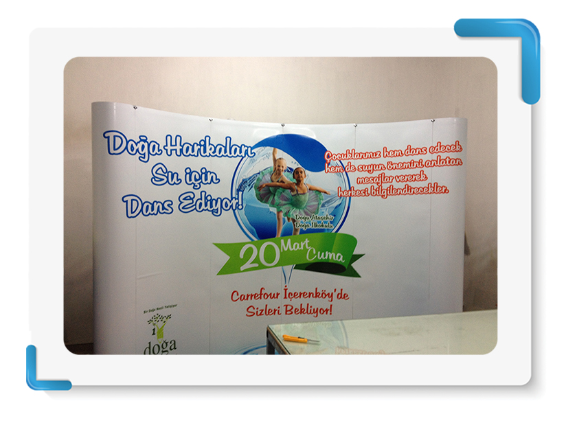 Doğa Koleji Roll Up Örümcek Stand Display