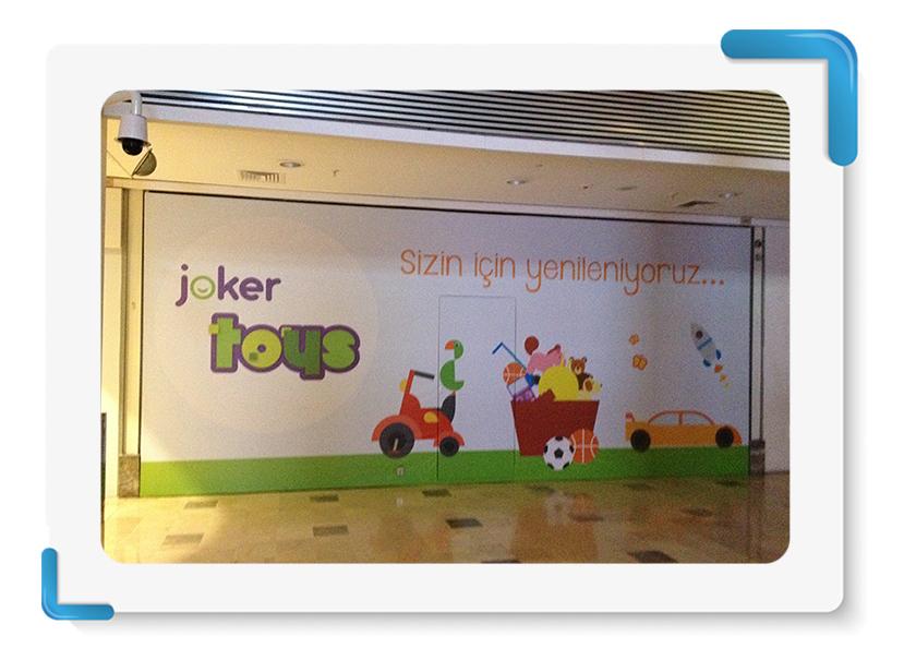 Joker Toys Mağaza Cephe Kapama
