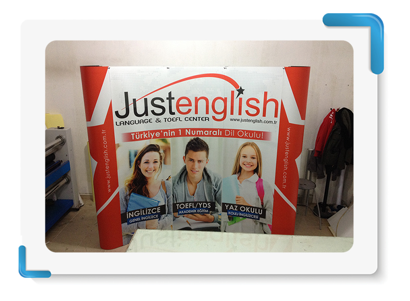 Just English Roll Up Örümcek Stand Display
