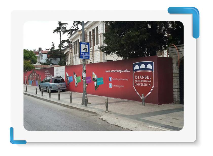 Kemerburgaz Üniversitesi Vinil Branda Baskı