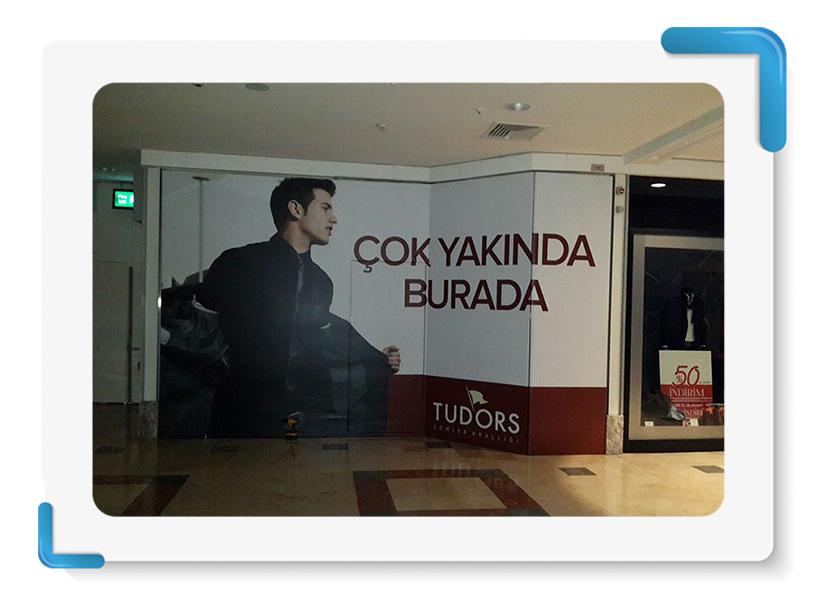 Tudors Gömlek Mağaza Cephe Kapama