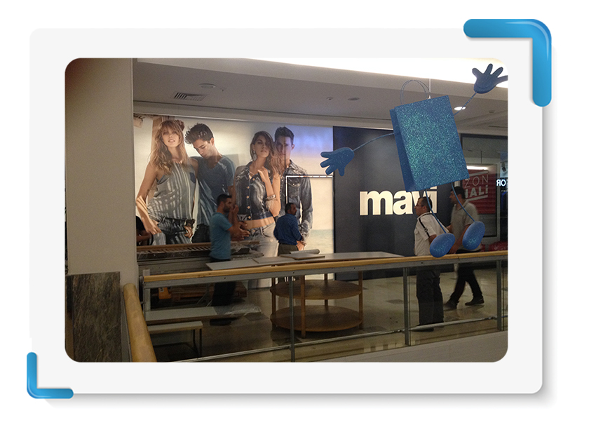 Mavi Jeans Mağaza Cephe Kapama