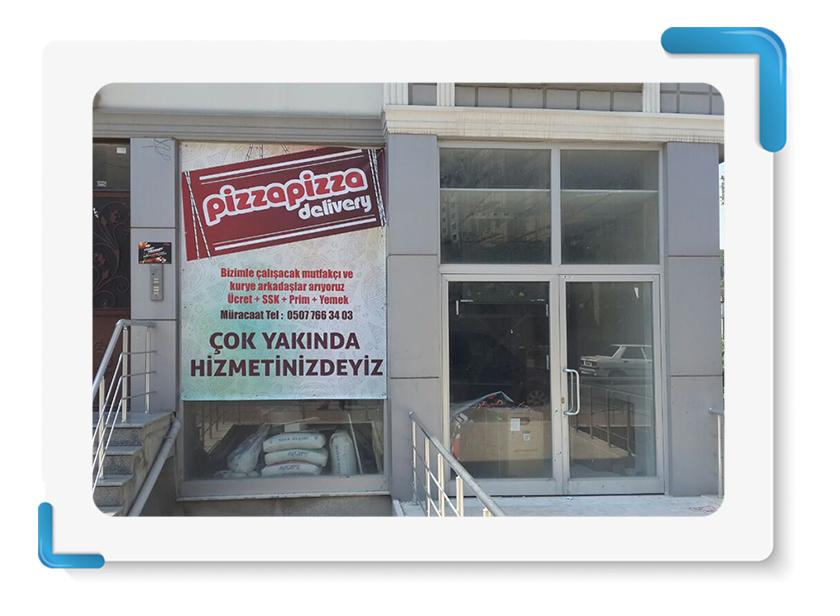 Pizza Pizza Vinil Branda Baskı