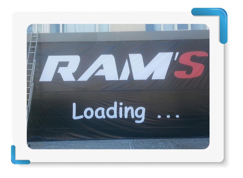 Rams Motor Vinil Branda Baskı